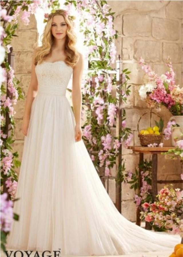 Custom made 2016 a line wedding dresses spring amzing for A line sweetheart tulle wedding dress