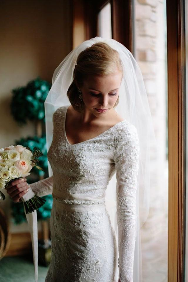 Modest Wedding Dress With Long Sleeves By Liancarlo 2407242 Weddbook