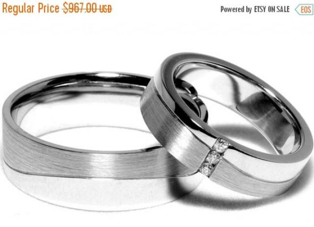 ON SALE Wedding Ring Sets 14K White Gold With Diamonds Weddbook