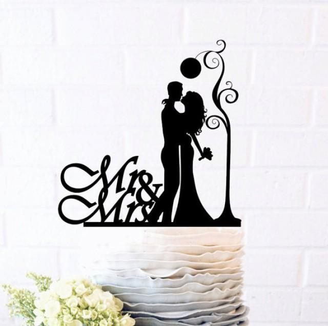 wedding photo - Bride and Groom, Pure love, Empyrean love, Romantic filings, Wedding Cake Topper, Cake Decor, Silhouette Bride and Groom,