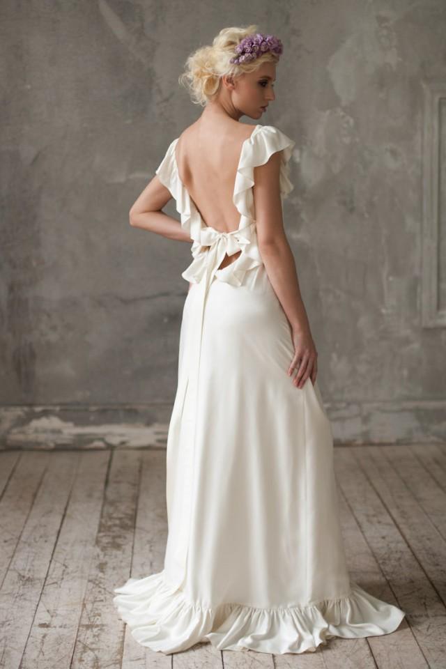 Wedding dress boho wedding dress unique wedding dress for Unique bohemian wedding dresses