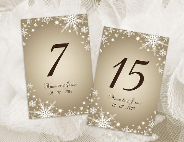Diy printable wedding table number template 2410841 for Table numbers template for weddings