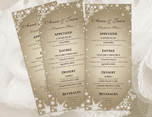 DIY Printable Wedding Menu Template 2410843 Weddbook