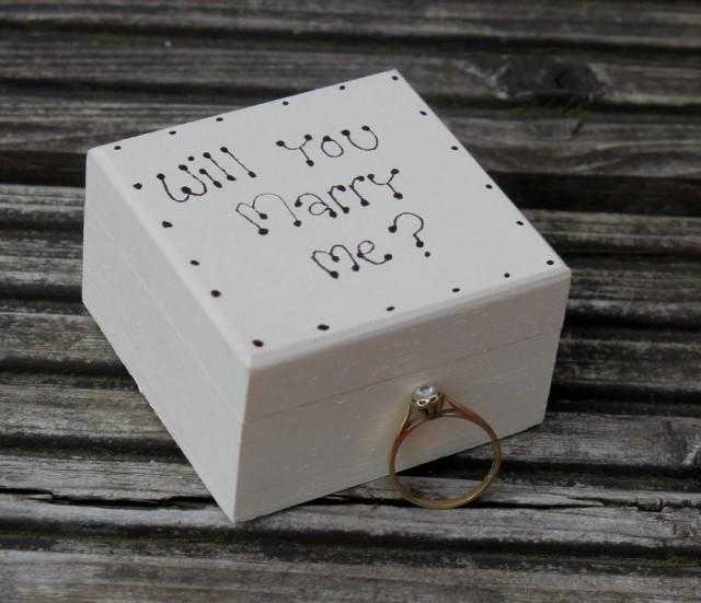 Will you marry me wedding ring box proposal box for Cute engagement ring boxes