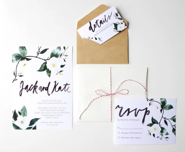 Customizable Wedding Invitation Templates: Printable Wedding Invitation Template, Watercolor, Custom