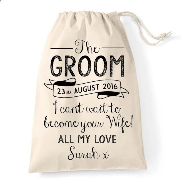Vintage Rustic Groom Gift Bag For The Big Day Great Wedding Gift ...