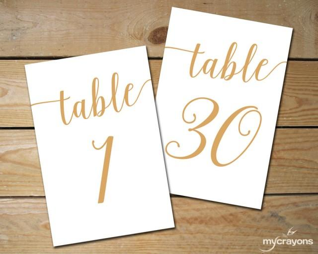 Instant Download Printable Table Numbers 1 30 Bella