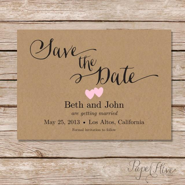 Rustic Save The Date Card / Printable Save The Date