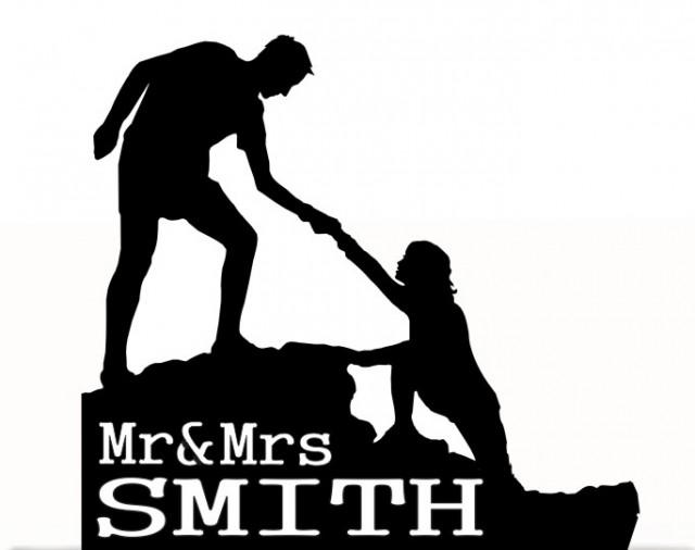 wedding photo - Wedding Wedding Cake Topper Mr and Mrs with Futur Last Name, Free Base For table Display