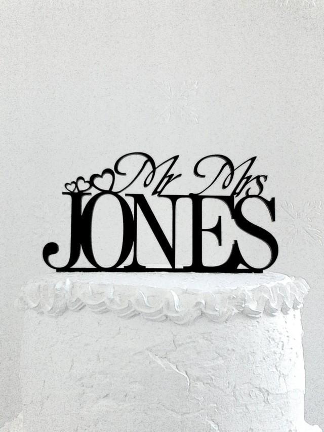 Decoración - Mr And Mrs Jones Wedding Cake Topper ...