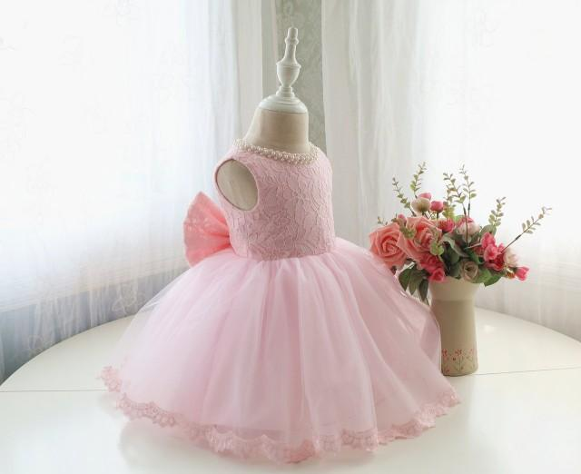 Fancy Baby Pink Sleeveless Infant Thanksgiving Dress Baby