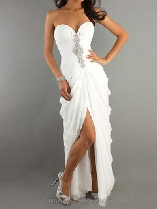 wedding photo - White Prom Dresses Canada