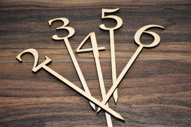 Wooden Table Numbers ~ Wedding table number wooden numbers rustic