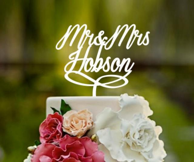 Wedding Cake Topper Cake Topper Name Cake Topper Personalised Wedding Cake Topper Mr And Mrs