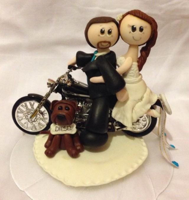 Bride And Groom Tandem Bike Cake Topper