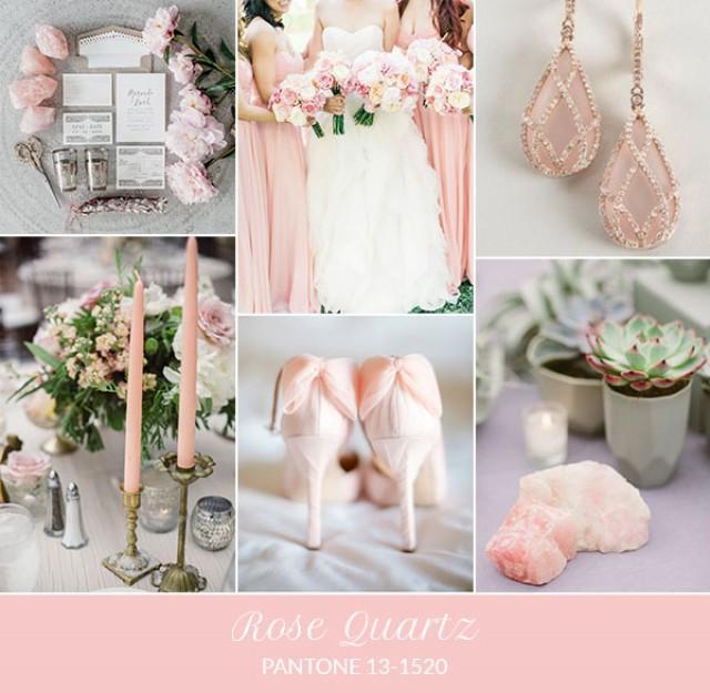Matrimonio Tema Primavera : Inspiration board: rose quartz pantone primavera 2016 wedding