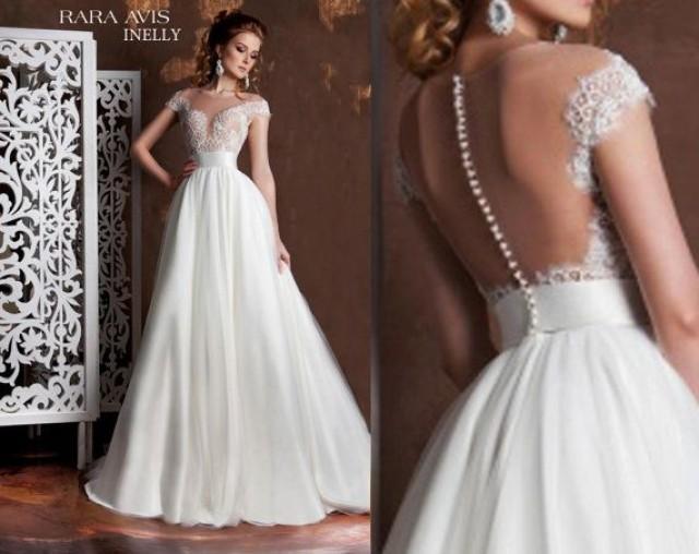 Simple Wedding Dress INELLY, Beach Wedding Dress, Wedding