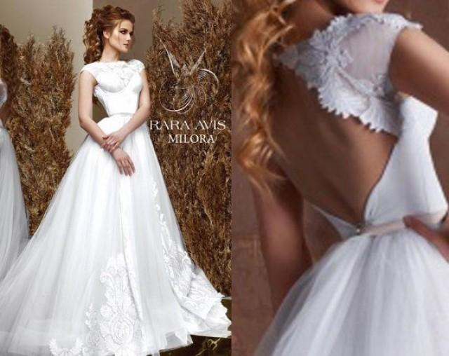 Unique Wedding Dresses Com: Bridal Gown MILORA, Unique Wedding Gown, Simple Wedding