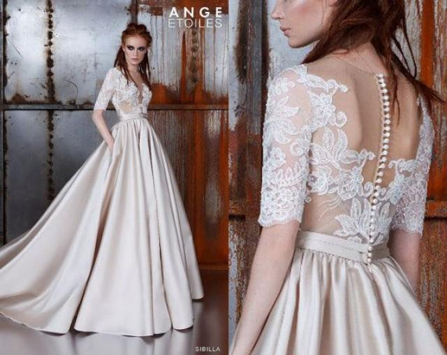 wedding dress sibilla wedding dresses a line wedding dresses ball gown wedding dresses 34 sleeves 2416336 weddbook