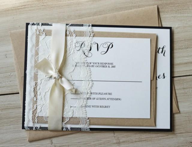 Lace Themed Wedding Invitations: Rustic Wedding Invitation, Lace Wedding Invitation