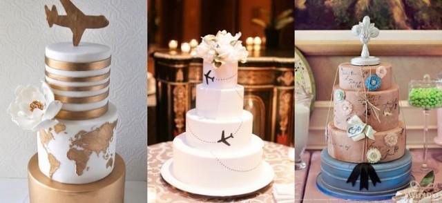 Travel Theme Wedding Cakes