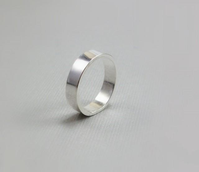 silver wedding band sterling jewelry simple ring band
