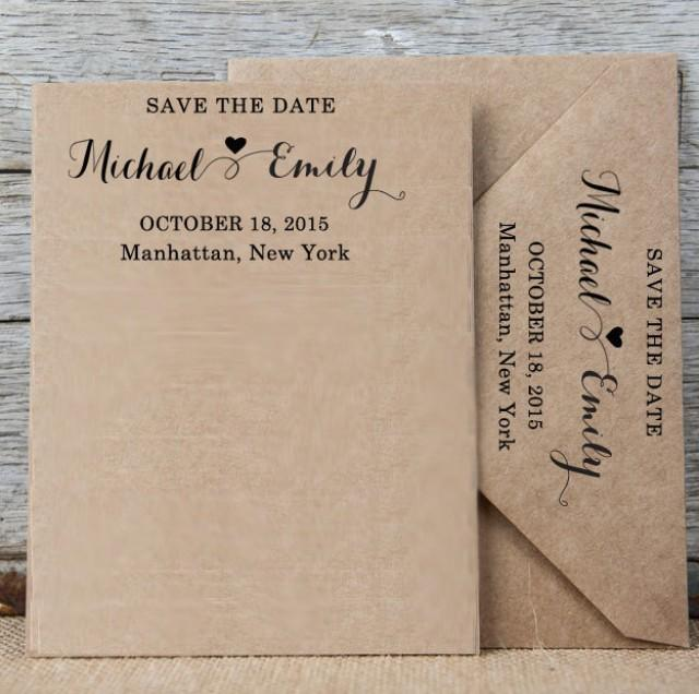 Custom Save The Date Stamp Personalized Rubber Stamp