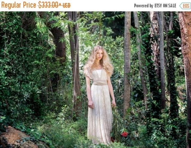 25 off black friday lace wedding dress vintage rustic for Boho country wedding dress