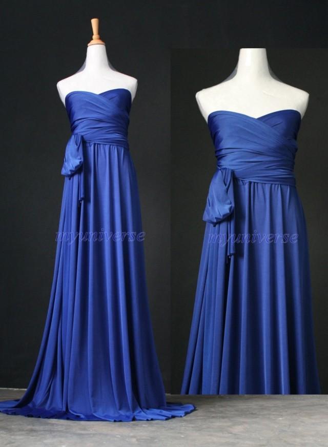Royal Blue Maxi Dress Bridesmaid Dress Infinity Dress Wrap