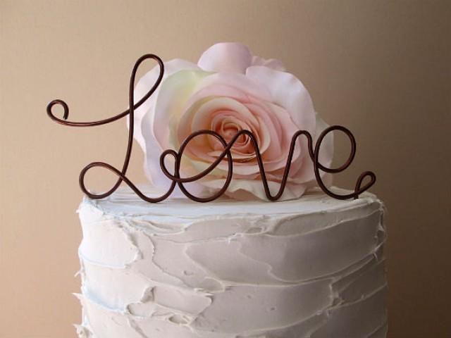 Love wedding cake topper vintage wedding cake topper - Vintage and chic love ...