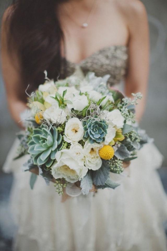Winter succulents wedding