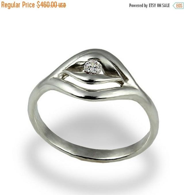 Black Friday SALE Unique Solitaire Ring Diamond Engagement Ring White G