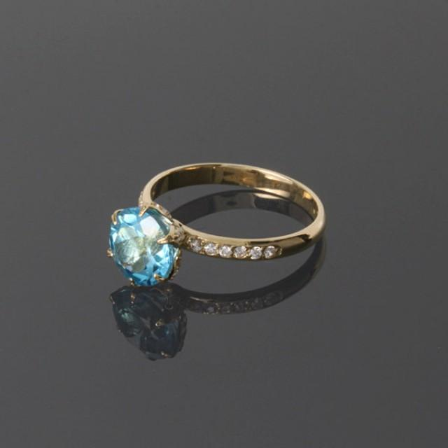 topaz ring topaz gold ring blue topaz ring gemstone