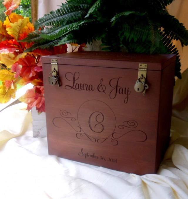 Wedding Gift Card Box How To Make : Card Box, Rustic Wedding, Gift Card Box, Wedding Box, Rustic Card Box ...
