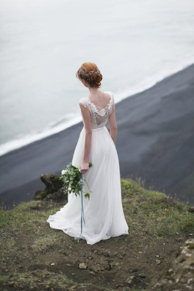 shade open back wedding dress with cotton slip 2419216 weddbook