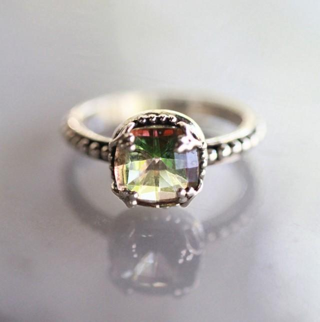 engagement ring wedding ring sterling silver ring