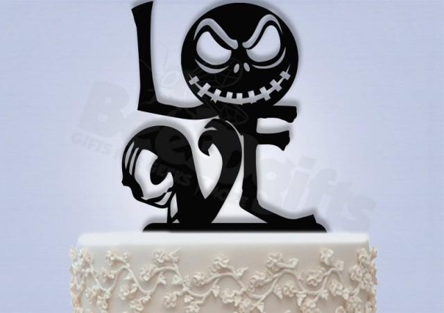 Jack And Sally Love Cake Topper Nightmare Before