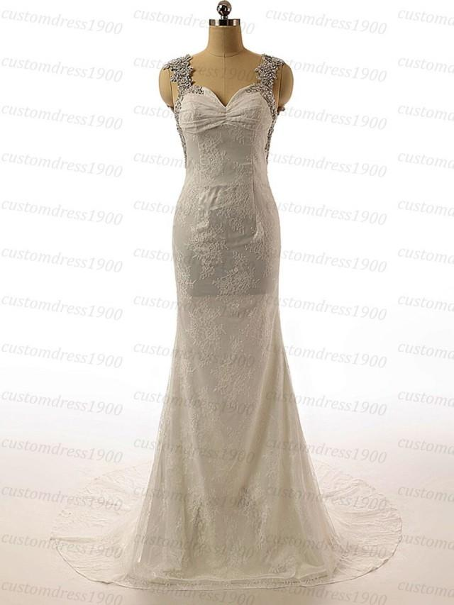 Vintage cap sleeve sexy open back bridal gowns handmade for Sexy open back wedding dress
