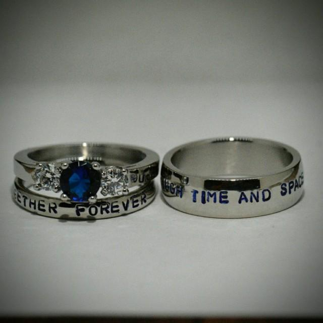Space Ring Set His Hers
