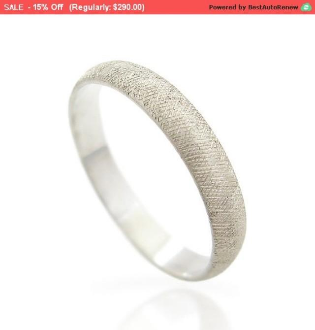 black friday sale textured mens wedding band white gold With black friday mens wedding rings
