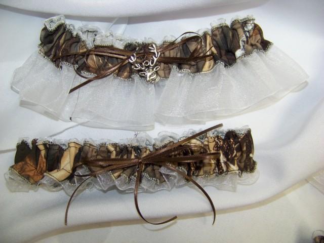 Max 4 garter white camouflage sheer camo bridal garter set for Max 4 set letto