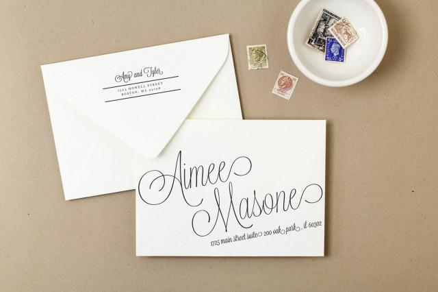 Invitation - Printable Wedding Envelope Template #2421849 - Weddbook