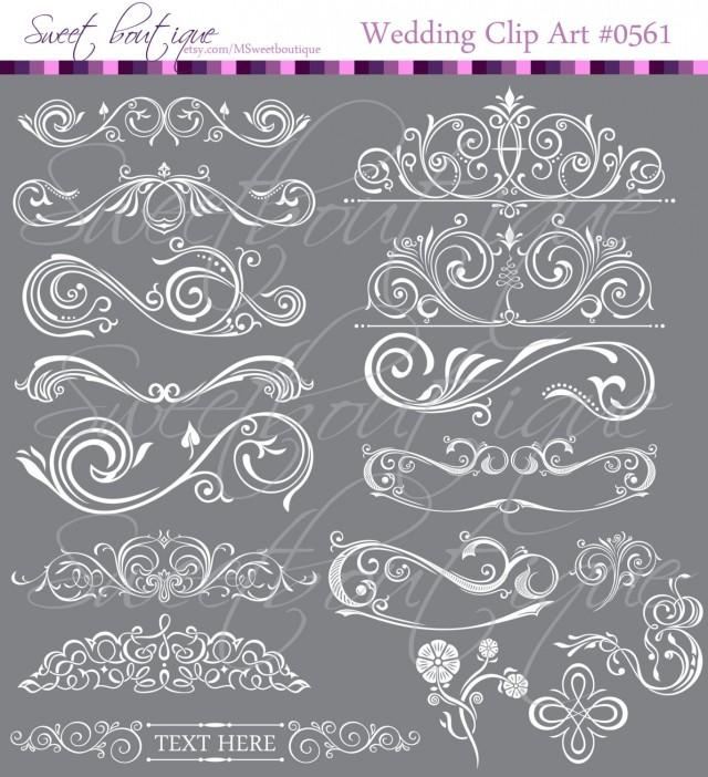 White calligraphy vintage clip art diy wedding cards