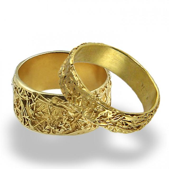 Wires Weddings Band Set Wedding Rings Women Wedding Band Mens Yellow Gold