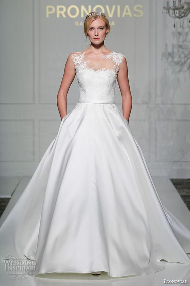 Pronovias 2016 wedding dresses new york bridal runway for New york wedding dresses online