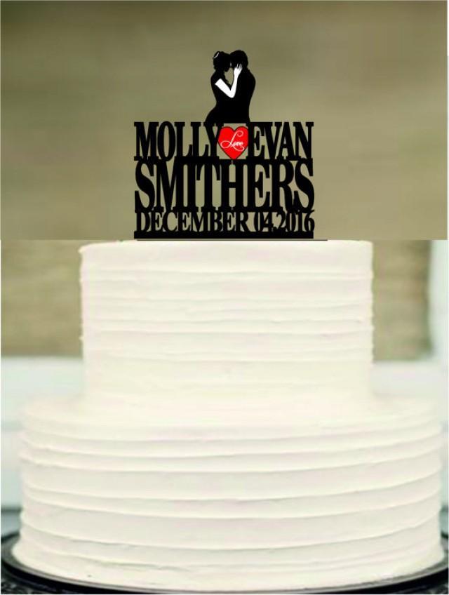 wedding photo - custom wedding cake topper, bride and groom cake topper, silhouette wedding cake topper, Mr and Mrs cake topper, funny cake topper