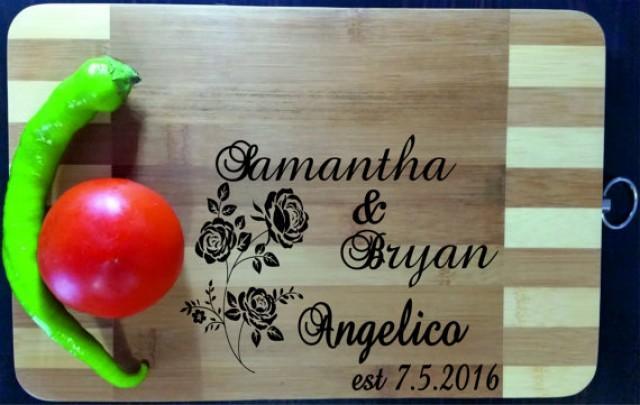 wedding photo - Custom Personalized Cutting Board Engraved, Wood Cutting Board, Wedding Gift, Housewarming Gift, Anniversary Gift, Valentines Day Gift