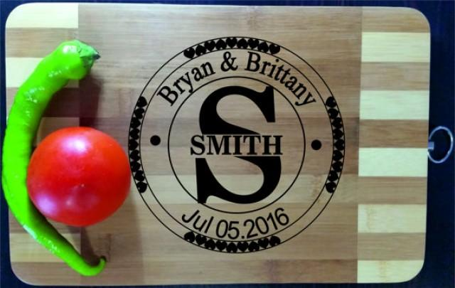 wedding photo - Personalized Cutting Board Engraved Custom, Wood Cutting Board, Wedding Gift, Housewarming Gift, Anniversary Gift, Valentines Day Gift