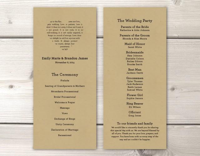 Print Wedding Program Bittorrentbuild