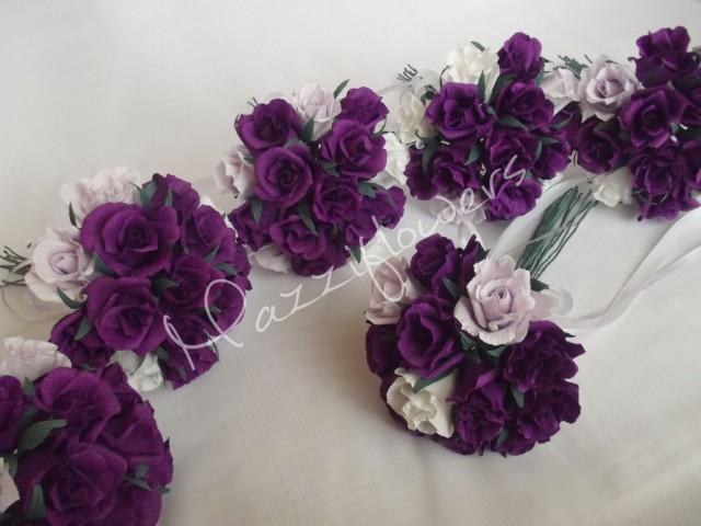 Bridal Bouquetpaper Flowerbridesmaids Bouquetwedding Bouquetpaper Flower Bouquetpaper